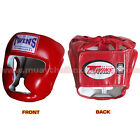 Twins Muay Thai Head Guard Protection HGL-3 Black-Blue-Red Size M-L