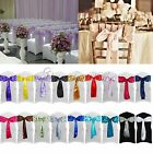 "150PCS New Satin Chair Sashes Bows 15cm*275cm Wedding Party 6""x 108"" Decoration"