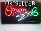 TOP QUALITY LED SHOP DISPLAY HANGING OPEN SCISSORS HAIRCUT SALON SIGN UK SELLER