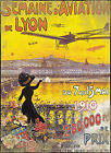 Vintage Shabby Old French Aviation Poster On Pure Cotton Canvas A1/A2/A3/A4