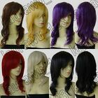 20 in. Long 50cm Heat Resistant Wavy All Color Cosplay Wig Free Shipping 35G