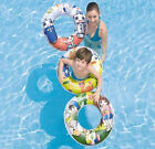 """24"""" INCH LARGE INFLATABLE SWIMMING BEACH SWIM RING RUBBER FLOAT SUPPORT 3 DESIGN"""