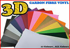 【A4 200MM X 300MM】ALL COLOUR Carbon Fiber/Fibre Vinyl Sticker Sheet Wallpaper