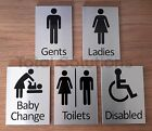 Aluminium Toilet Symbol Signs - Male - Female - Disabled - Baby Change