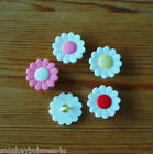 5 - Novelty Buttons - Daisy - 18mm - Dolls/Baby & Kid's - Knitting/Sewing/Cards
