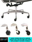 CASTERS FOR H. MILLER/ EAMES  ALUMINUM GROUP CHAIR REPLACEMENT PARTS CASTORS