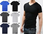 Mens Casual  Slim Fit V-neck T-shirt Short Sleeve Muscle Tee  H725  6color 4Size
