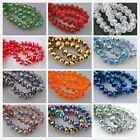 35 Faceted Glass Crystal Rondelle Diy Finding Spacer Beads12x8mm AB&Plated Color