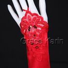 NEW Wedding Party Prom Ball Bridal Fingerless Gloves Sequins