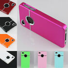 9 Type Deluxe Chrome Hard Rubber Bumper Skin Cover Case For Apple IPhone 4 4G 4S