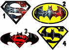 SUPERMAN SPIDERMAN BATMAN LOGO IRON ON T-SHIRT FABRIC TRANSFER MARVEL HEROS