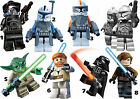 STAR WARS LEGO STICKER WALL DECO YODA STORM TROOPERS SKYWALKER OBIWAN CLONES
