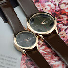 Elegant Brown Color Couple Lover Leatheroid Quartz  Wrist Watch Watches Best New