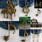Bulk Bronze Musical Music Notes Clef Symbol Piano Pendant Charms Beads Findings