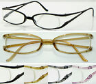 (R7B)Quality Plastic Frame Reading Glasses with cases+1.00+1.50+2.00+2.5+3.0+4.0