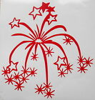 Fireworks Celebration Vinyl Decal Sticker, Wall, Car, Toy Box, Party