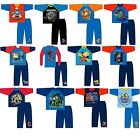Kids Boys Cartoon Character 100% Cotton Long Sleeve Top Night Wear PJ Pyjama