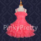 Beaded Tiered Formal Dress Wedding Flower Girl Bridesmaid Party Size 2y-8y FG185