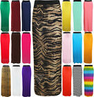 Ladies Womens Long Gypsy Maxi Skirt Style Jersey Sexy Slim Elasticated