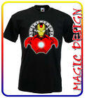 T-SHIRT  IRON MAN FILM TONY STARK AVENGERS cartoon MANICA LUNGA / MANICA CORTA