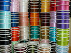 Full Reel Double Sided SHINDO SATIN Quality Tying Ribbon Crafts etc 25m/50m mtrs