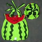 baby girls outfit fancy dress 9-12-18-24 months cute WATER MELON romper with hat
