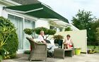 Half Cassette Manual Garden Patio Awning Sun Canopy Shade Retractable Shelter
