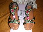 Via Pinky Collection Beaded Sandal,,,in various sizes,,,Brand New in Box!