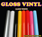 【Gloss】600mm x  0.3 Meter Vehicle Wrap Vinyl Sticker ALL COLOUR