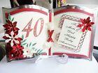 Beautiful Personalised Handmade Bookatrix Wedding Anniversary Card 25th 40th....