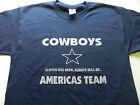 Dallas Cowboys Americas Team Navy Silver T Shirt All Sizes Small - 5X Tee