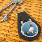 Racing Pigeon Leather Key-fob/Metal Keyring