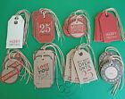 EAST OF INDIA GIFT TAGS LUGGAGE LABELS CHRISTMAS DO NOT OPEN UNTIL 25TH DECEMBER
