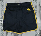 NWT Abercrombie & Fitch A&F New Navy Cold River Mesh Athletic Sport Gym Shorts