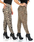 Womens Long Animal Pocket Harem Pants Trousers Slinky Full Length Ladies New