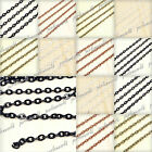 wow!! Iron Flat Cable Unfinished Chain Links Wholesale Fit Necklace DIY CH0119