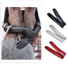 Ladies Opera Evening Party Faux Leather PU Over Elbow Long Gloves 2 inch