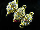 Crystal Rhinestone Charms Rugby Strong Magnetic/Magnet Connectors Clasp 18x9mm
