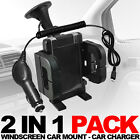 WINDSCREEN CAR MOUNT HOLDER,CAR CHARGER  FOR VARIOUS LG MOBILES