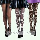plus size PATTERNED TIGHTS 16 18 20 22 24 26 fancy dress 1x 2x 3x halloween goth