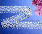 """12/24 Yds 3/4"""" White Delicate Galloon Lace Trim R07V Added Items Ship FREE"""