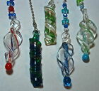 Assorted Twisted Stained glass lampwork ceiling fan light chain pulls free ship