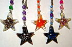 Assorted Blown glass Stained glass starfish ceiling light chain pull  ornament