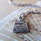 Bingo Card Pewter Charm on Plated Cable Chain