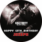 """Call of Duty Black Ops 2 7.5"""" ROUND Cake Topper Rice Paper/Icing 24HR POST!"""