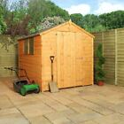8x6 Wooden Shed Shiplap Tongue Groove Sheds Apex Large Single Door OSB Floor