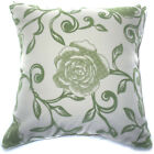 UF88a Oliver Rose on Beige Velvet Style Cushion Cover/Pillow Case *Custom Size