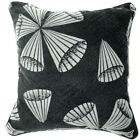 UL61a Black Off White Cone Velvet Style Cushion Cover/Pillow Case *Custom Size*