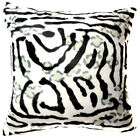 Ff03a Faux Fur Black White Zebra Skin Print Cushion Cover/Pillow Case*Custom Siz