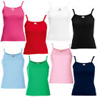 New Fruit of the Loom Womens Ladies Fitted Strap Vest Top in 9 Colours XS - XL